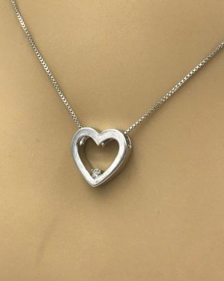 sterling silver heart pendant necklace for sale