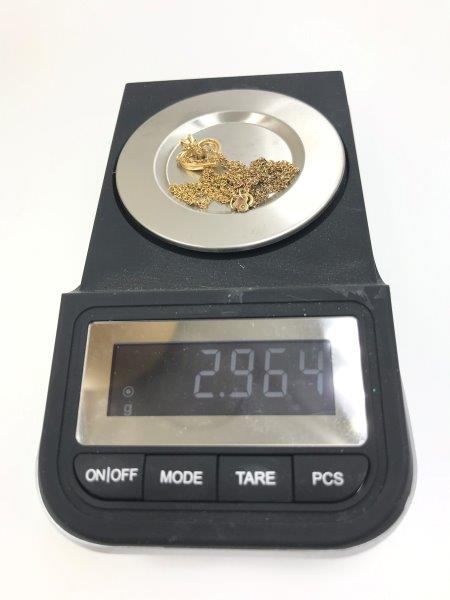 weight of gold necklace for sale
