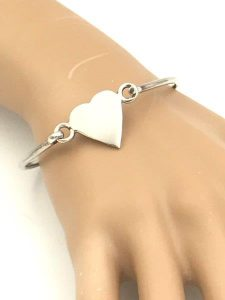 silver bangle bracelet for sale