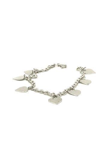 Heart Charm Bracelet Sterling Silver 925