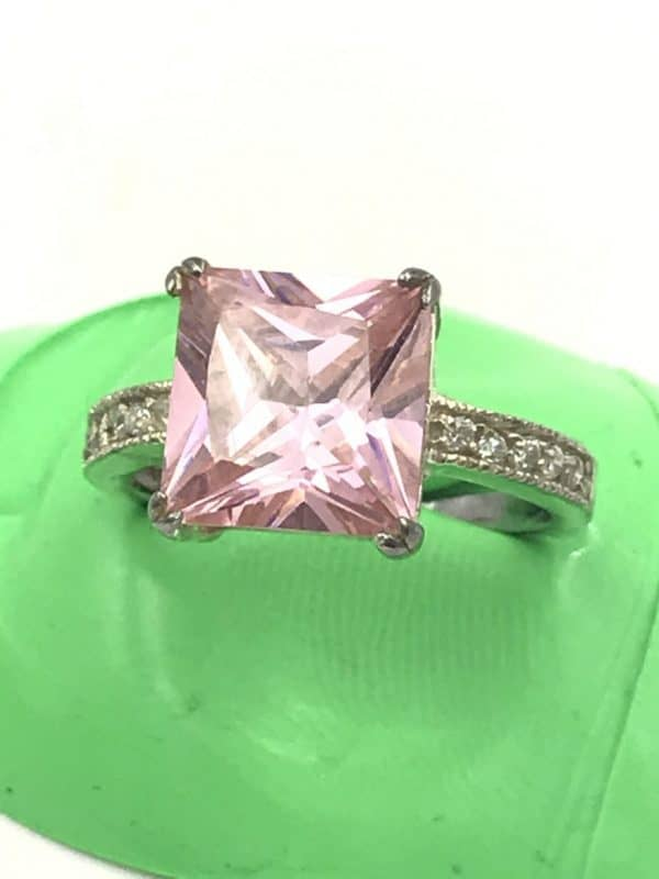 Pink Stone Ring Sterling Silver