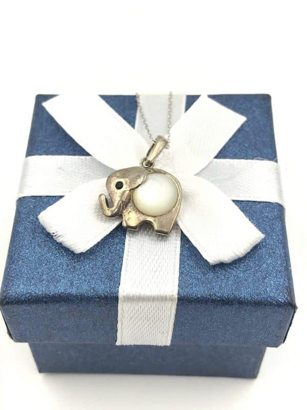 Moonstone ELEPHANT Pendant Necklace for sale