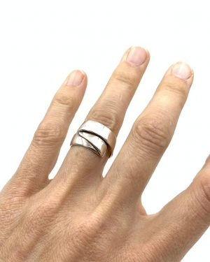 Sterling Silver Folded Ring Size 8