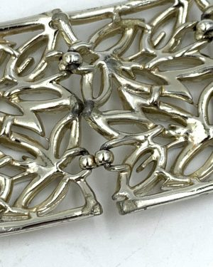 Vintage Pegasus Coro Wide Bracelet Openwork Link